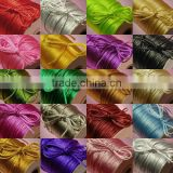 Satin cord Jewelry making supplies-mixed color china knot satin cord for jewelry DIY making and craft supplies