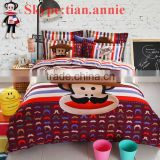 Hello Kitty 100% cotton reactive printting bed sheet set bed sheet egyption cotton bedding bedding set wholesale bedding