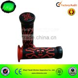 7/8 Rubber Hand Grips Motorcycle Handle Bar Grips & Bar Ends 22MM Red skull,motorcycle hand grip,throttle/hand bar grip