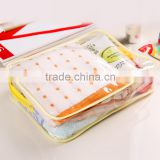 front zipper clear pvc cosmetic bag