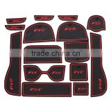 Car interior accessories car mats wholesale for Honda FIT(low configuration)2014 15pcs/set