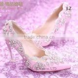OW22 fashion vogue wedding shoes beautiful high-heeled diamond shoes