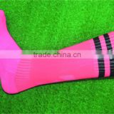 100% polyester grade original pink color cheap soccer socks                                                                         Quality Choice