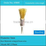5mm HP shank cup shape extra rough crimped brass wire brushes for dental laboratory