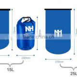 5L/10L/15L/20L 500D tarpaulinmesh Outdoor portable waterproof dry bag backpack foldable bag