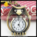 sW-1114 factory direct sale bronze case owl shape round dial steampunk antique pocket watch