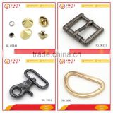 Metal hardware for manufacturing of dog collars with rivets,D-rings,pin buckles and snap hooks