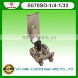 Industrial Sewing Machine Parts Sewing Accessories Brassiere Feet W/Guide Double Needle S570SD-1/4-1/32 Presser Feet