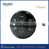 Best price 7inch round jeep/truck led lights,jcb spare parts