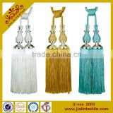 Curtain accessories wholesale tassels polyester material curtain tiebacks with crystal bead
