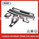 CARBON INTERIOR TRIMS Fit For BMW E92 Air Condition AC Vent Outlet Trim Cover CARBON