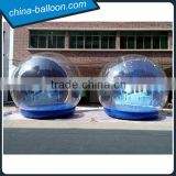 Super quality 4m inflatable snow bubble igloo, inflatable human snow globe for Christmas                                                                                                         Supplier's Choice