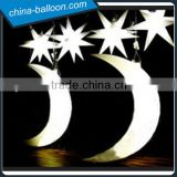Inflatable star and moon light,inflatable half moon for Party decorations