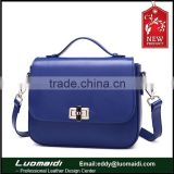 2015 new fashion ladies 100% genuine leather shoulder bag handbag from Guangzhou manufacture