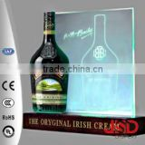 Back bar cheap acrylic LED bottle glorifier, bottle glorifier display