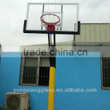 In ground adjustable outdoor basketball stands