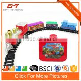 Battery operated railway toy train set with sound &light
