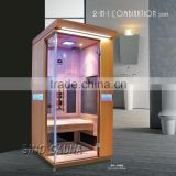 Easy Established Far infrared sauna combine the full spectrum heaters with carbon heaters for heathy