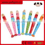 Factory Supply Cheap Colorful Wooden Flute Toy