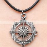 3.0mm Black adjustable vintage compass rubber necklace
