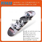 2015 new products fashion 31 inch and 8 inch 9 ply maple skateboard, double kick skateboard