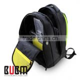 BUBM New arrived black custom nylon removable backpack laptop bags for 15inch