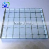 6mm clear tempered wired glass