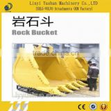 China Mini Wearable Hard Rock Bucket For Excavator, V Ditch Trench Wheel Loader Types Of Rock Bucket