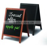 Chalkboard A Frame Pavement Sign JD Natura range - Teak & Black
