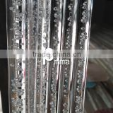 transparent plexiglass rod bubbles