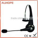 NFC one-touch-pair multi-point long talk time single-side adjustable earclip blueooth call center usb headset