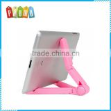 Wholesale Foldable Triangle Tablet Holder for iPad, Foldable Lazy Mobile Phone Table Holder