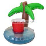 Hot sale high quality cheap new design inflatable palm tree float drink holder