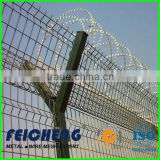 galvanized or PVC/PE coated barbed wire arm on fence