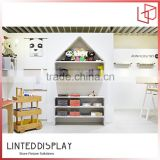 High-quality wooden display rack for baby center baby toys