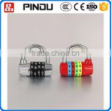 mini 4digit resettable combination top security tri-circle luggage padlocks
