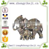 2015 chinese factory custom made handmade carved hot new products resin decorative elephant statues