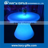 Wedding led banquet table round lighted restaurant table led dining table