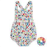 Toddler Kids Polka Dots Suspander summer Jumpsuit Baby Bubble White Baby Rompers