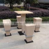 Great Nice Outdoor Rattan Bar furniture Bar Stools With Padded