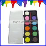 Quality 20mm diameter 12 color water color cake