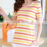 Women's Long Sleeve Printed Maternity T-shirts,Cotton Maternity blouse /high collar
