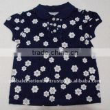 Cute design allover printed baby cotton tops