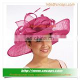 New Design Sinamay Wedding Hats With Feather Decoration