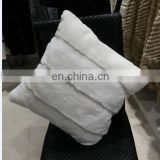 Wholesale price Rex rabbit head Fur Pillow real fur Pillow Cover Throw Pillowcase Cushion Covers