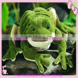 Cute lovely plush green frog plush toy