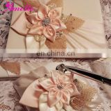 AW0707 Flowers wedding deco (guest book and pen holder)