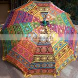 garden umbrella big size ,beach umbrella with colourful embroidery diameter size 6 ft(72 inch),lawn umbrella ,wedding decoration