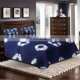 indigo blue bed sheet bed cover, Tye Dyed Blue Bedspread with 2 pillow Set