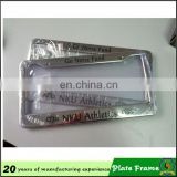 manufacturers stainless steel metal license plate frame with printing logo (licence plate-004H)